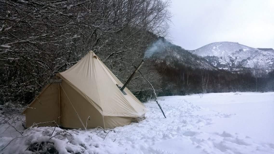 Bushcraft Tent Canvas Stove Ani4x4